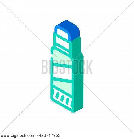 Glue Stick Stationery Isometric Icon Vector. Glue Stick Stationery Sign. Isolated Symbol Illustratio
