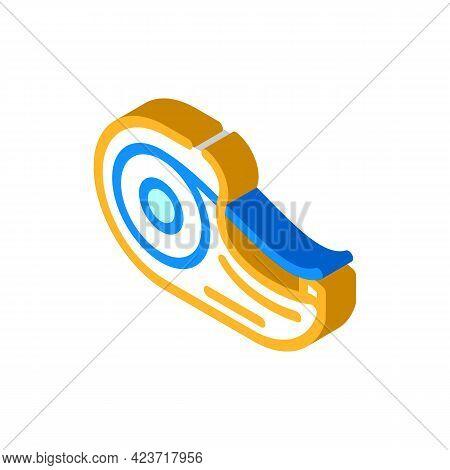 Scotch Stationery Isometric Icon Vector. Scotch Stationery Sign. Isolated Symbol Illustration