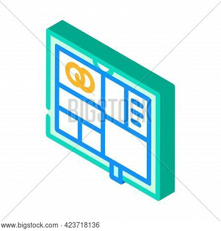 Photo Album Wedding Accessory Isometric Icon Vector. Photo Album Wedding Accessory Sign. Isolated Sy