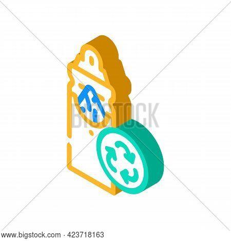 Napkin Holder Zero Waste Isometric Icon Vector. Napkin Holder Zero Waste Sign. Isolated Symbol Illus
