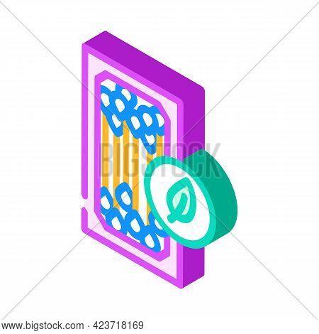 Ear Sticks Zero Waste Isometric Icon Vector. Ear Sticks Zero Waste Sign. Isolated Symbol Illustratio