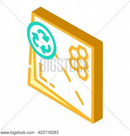 Beeswax Paper Zero Waste Isometric Icon Vector. Beeswax Paper Zero Waste Sign. Isolated Symbol Illus