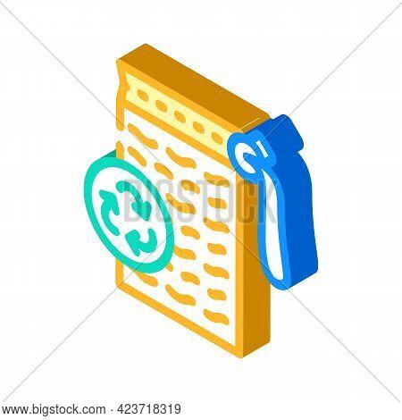 Sponge Zero Waste Isometric Icon Vector. Sponge Zero Waste Sign. Isolated Symbol Illustration