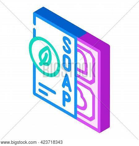 Soap Zero Waste Isometric Icon Vector. Soap Zero Waste Sign. Isolated Symbol Illustration