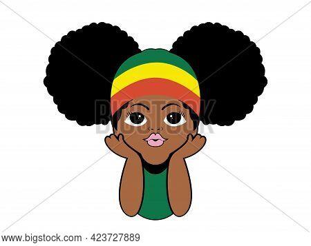 Kids Peeking Afro Girls Peekaboo Vector Illustration