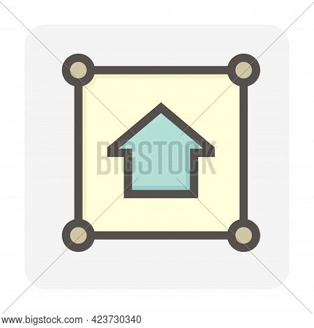 Real Estate Business Vector Icon Set Design, 48X48 Pixel Perfect And Editable Stroke.
