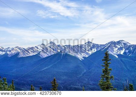 View Of The Canadian Rockies In Banff National Park, Alberta, Canada