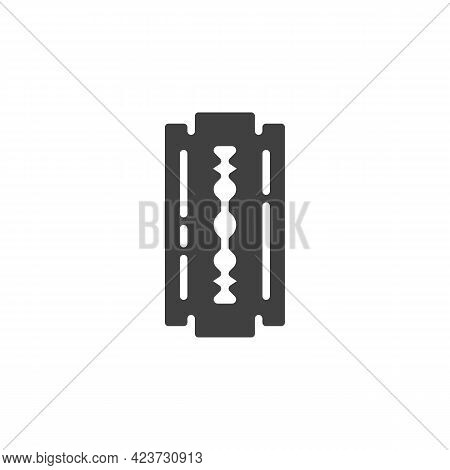 Razor Blade Vector Icon. Filled Flat Sign For Mobile Concept And Web Design. Shave Blade Glyph Icon.