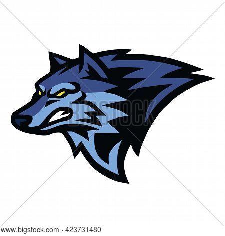 Snarling Wolf Beast Logo Of Sports Mascot Design Vector Illustration