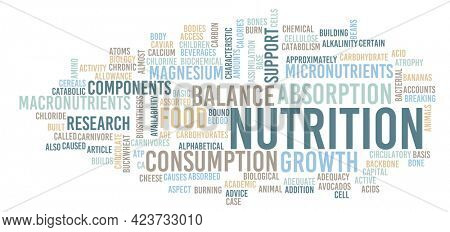 Nutrition as a Healthy Diet Concept Abstract