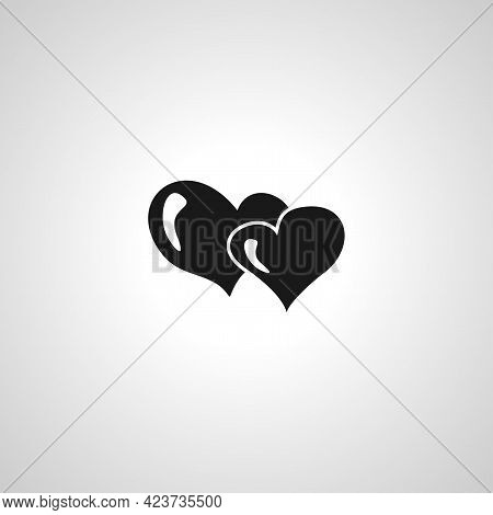 Love Hearts Isolated Simple Vector Icon. Love Hearts Isolated Simple Vector Icon