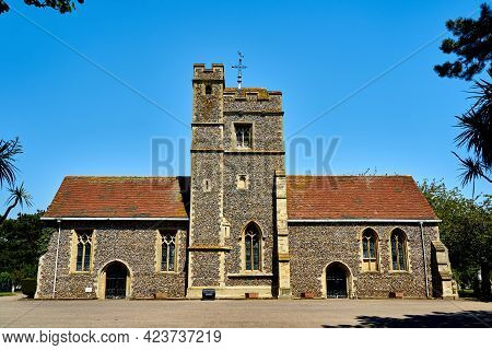 Ramsgate, United Kingdom - May 31, 2021: Ramsgate Cemetery Chapel. The 19th Century Chapel Was Desig