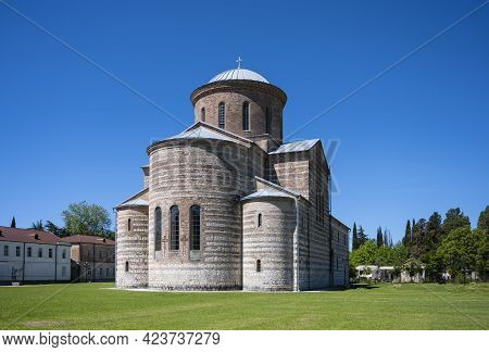Patriarchal Cathedral In Honor Of St. Andrew The First-called In Pitsunda, Republic Of Abkhazia. Cle