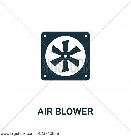 Air Blower Icon. Monochrome Simple Element From Housekeeping Collection. Creative Air Blower Icon Fo