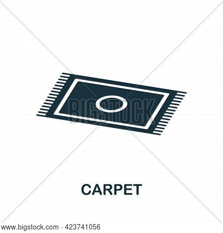 Carpet Icon. Monochrome Simple Element From Housekeeping Collection. Creative Carpet Icon For Web De