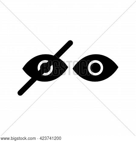 Crossed Out Eye, Hide, Unseen Or Dont Look Black Icon. Eye Badge. Show Password. Isolated Symbol Sig