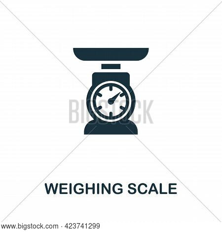 Weighing Scale Icon. Monochrome Simple Element From Manufacturing Collection. Creative Weighing Scal