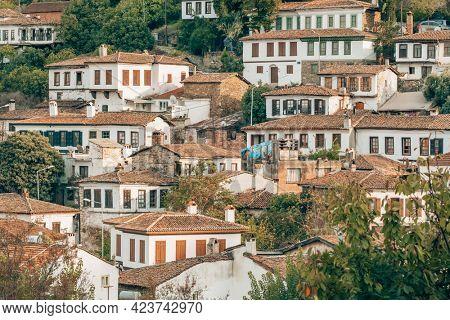 Old houses in historical Sirince village, Selcuk, Izmir region, Turkey