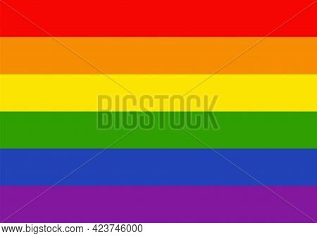 Lgbtq Rainbow Flag. Vector Illustration Graphic Design