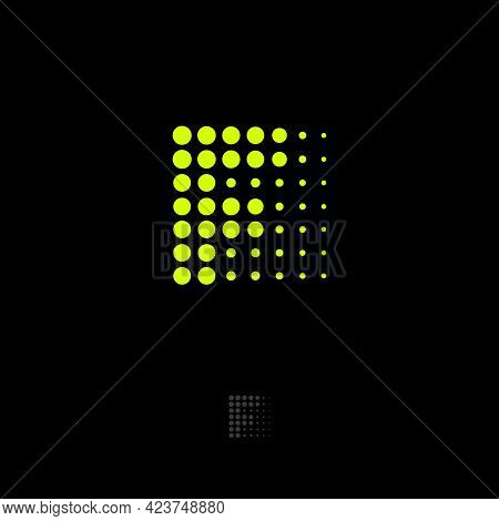 Letter F. Digital Illusion. F Monogram Consist Of Dots. Abstract Icon For Business, Internet, Web Ap