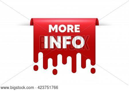 More Info Text. Red Ribbon Tag Banner. Navigation Sign. Read Description Symbol. More Info Sticker R