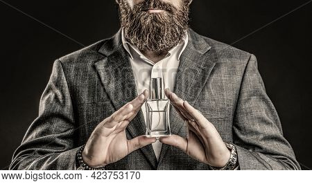 Man Perfume, Fragrance. Perfume Or Cologne Bottle And Perfumery, Cosmetics, Scent Cologne Bottle, Ma
