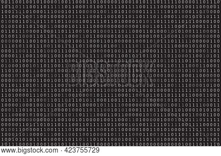 Program Datum Background. Programming Binary Coding. Matrix Vector Illustration