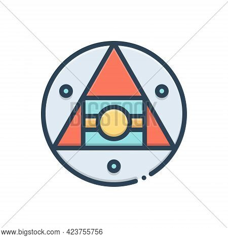 Color Illustration Icon For Hermetic Airtight Technology