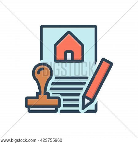 Color Illustration Icon For Formalities  Rule Regulation Convention Ritual Custom Matter-of-form