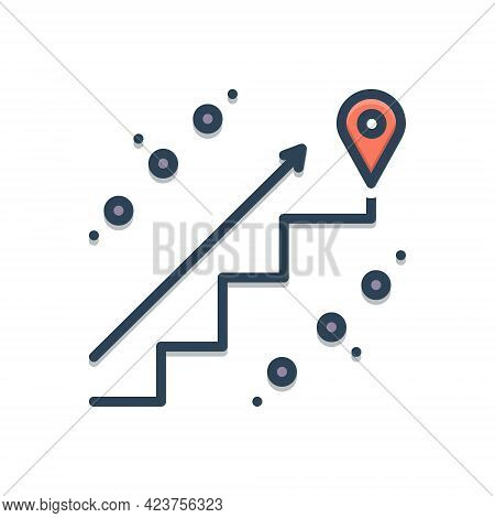 Color Illustration Icon For Endpoints Pointer Finish End Closing