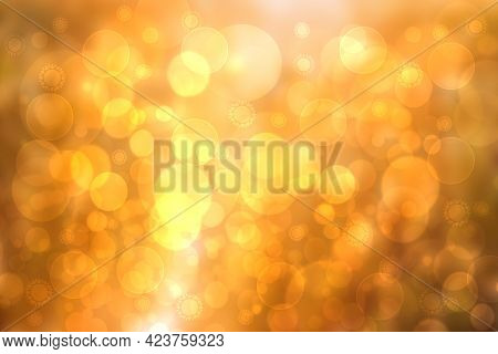 Hello Spring Background. Abstract Bright Spring Or Summer Landscape Texture With Natural Gold Yellow
