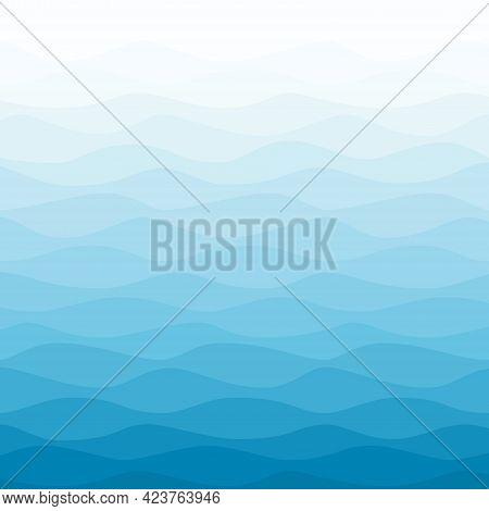 Sea Water Wavy Blue Gradient Nautical Background
