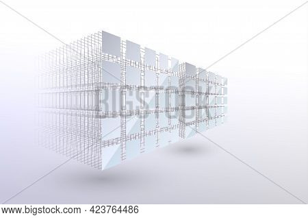 Block Chain Concept. Big Data. Data Sorting. From Chaos To System. Artificial Intelligence. Machine