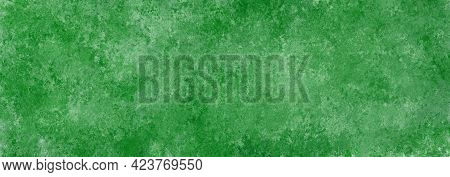 Green White Vintage Old Background With Blur, Gradient And Watercolor Texture. Colored Splashes, Spo