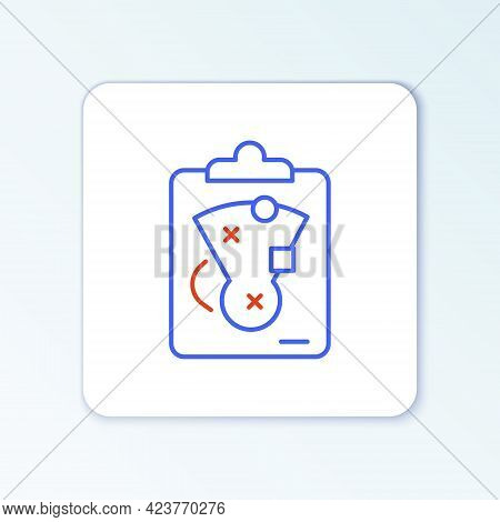 Line Planning Strategy Concept Icon Isolated On White Background. Baseball Cup Formation And Tactic.