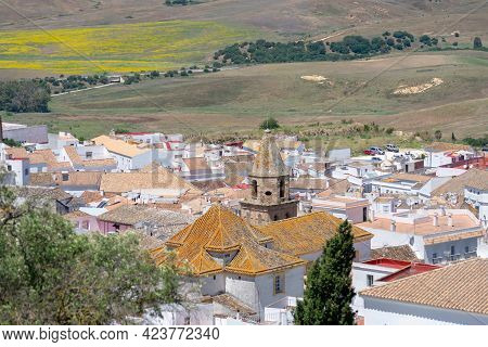 Medina Sidonia, In The Province Of Cadiz With The Victory Church. Andalusia. Spain. Europe.