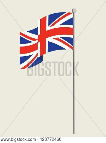 Flag Of The Great Britain. State Symbol In Flat Style.