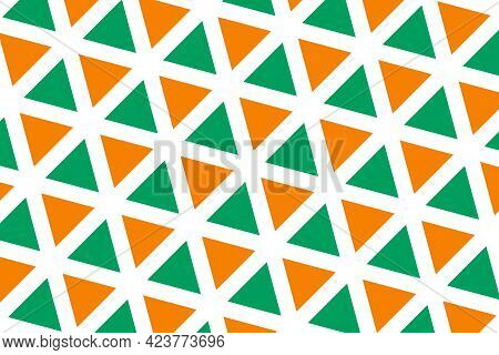 Simple Geometric Pattern In The Colors Of The National Flag Of Côte D'ivoire