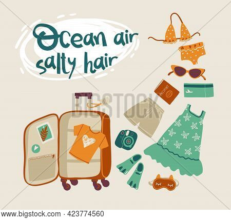 Ocean Air, Salty Hair. Packing A Suitcase For A Vacation At Sea.