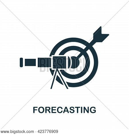 Forecasting Icon. Simple Creative Element. Filled Monochrome Forecasting Icon For Templates, Infogra