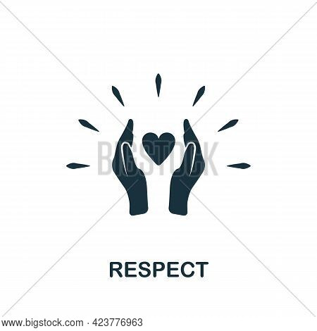 Respect Icon. Simple Creative Element. Filled Monochrome Respect Icon For Templates, Infographics An