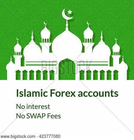 Islamic Trading Forex Accounts Background With Mosque