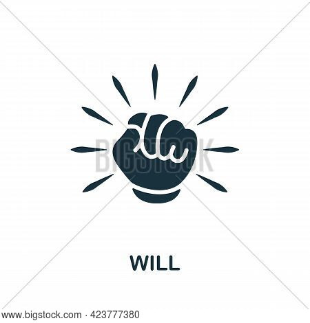 Will Icon. Simple Creative Element. Filled Monochrome Will Icon For Templates, Infographics And Bann