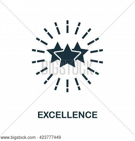 Excellence Icon. Simple Creative Element. Filled Monochrome Excellence Icon For Templates, Infograph