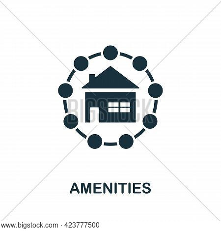 Amenities Icon. Simple Creative Element. Filled Monochrome Amenities Icon For Templates, Infographic