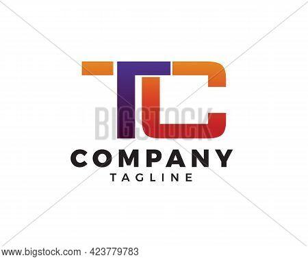 Tc Letter Initial Logo Design Vector Template