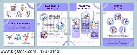 Types Of Diabetes Brochure Template. Diagnosing Illness. Flyer, Booklet, Leaflet Print, Cover Design
