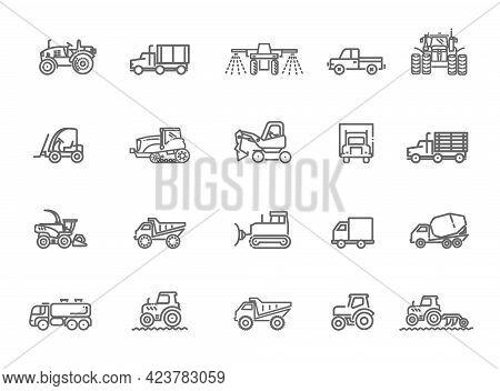 Agriculture Machines Tractors Combine And Equipment. Industrial Machinery