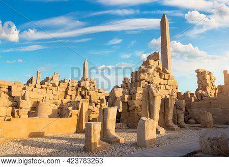 Ruins And Obelisks Of The Ancient Temple In Luxor