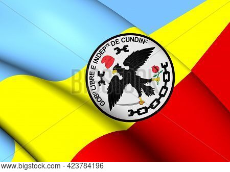 3d Flag Of Cundinamarca Department, Colombia. 3d Illustration.